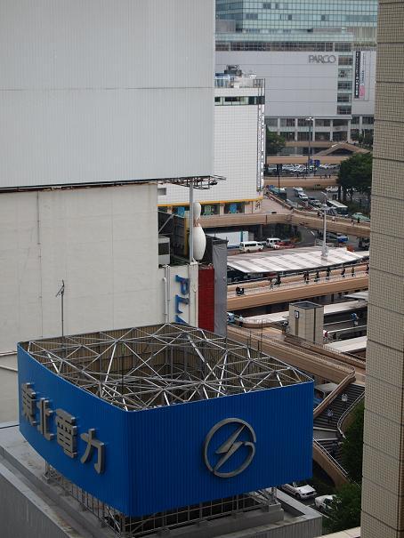 ホテルから仙台駅.JPG